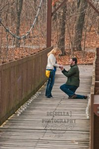 The actual proposal - I said yes!